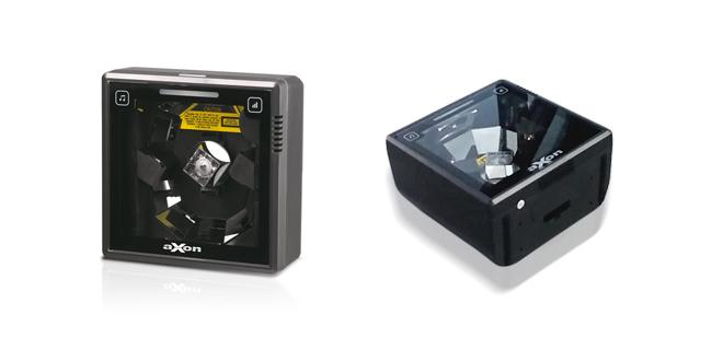 La nuova serie di scanner da incastro su bancoAxon CS6100 è indicata per installazioni verticali.