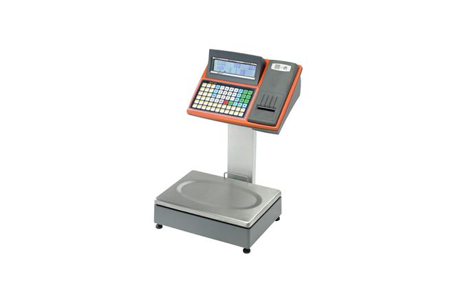 La bilancia elettronica Italiana Macchi MACH 120 R è dotata di una stampante per scontrini, scontrini adesivi ed etichette.