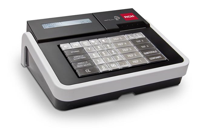 RCH Wall E Mec è il registratore di cassa con design compatto, con una duplice colorazione Nero e Bianco e con tastiera a basso profilo, che rendono questo registratore di cassa elegante per ogni collocazione.