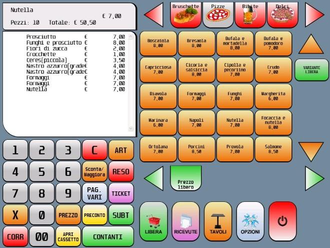 Il software per la ristorazione Visual Retail è dedicato alla gestione completa del punto vendita con legame al mondo del food e della ristorazione.