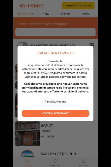 MyCIA - L'app del Delivery Intelligente